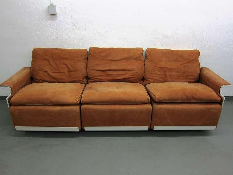 Dieter rams vitsoe dreisitzer sofa in wildleder 60er ebay for Sofa wildleder