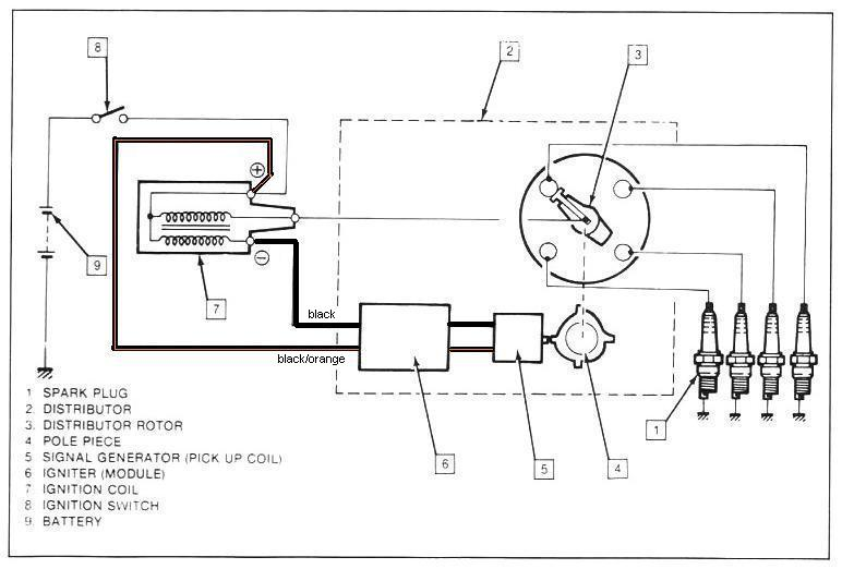 ford distributor wiring diagram schemes