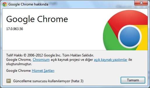 Google Chrome v17.0.963.56 Final Türkçe (Win/Mac/Linux)